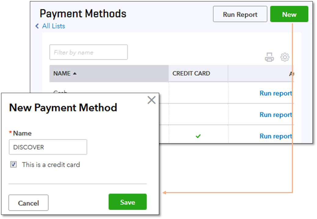 Add or modify the accepted credit card types in Qu    - QuickBooks