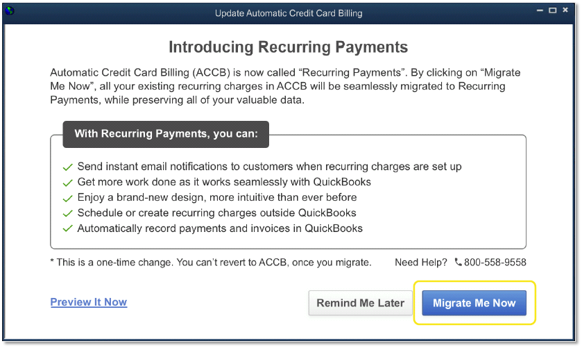 Recurring Payments - QuickBooks Community