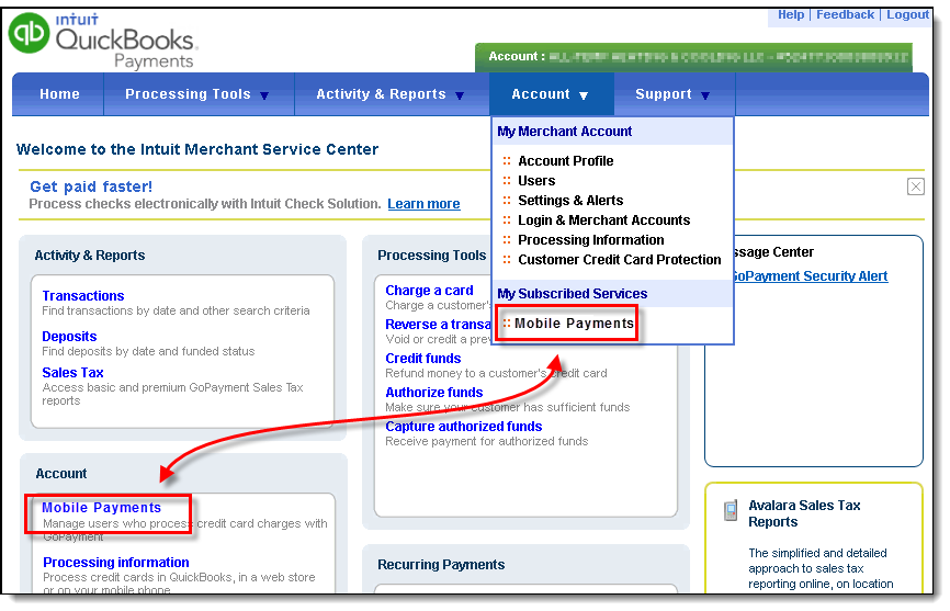 What is my mobile payments User ID/login? - QuickBooks Learn & Support