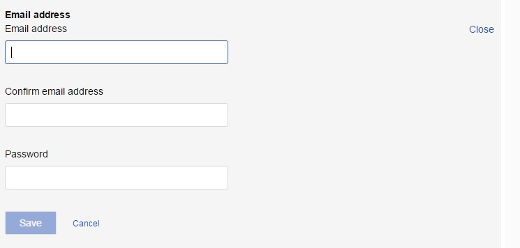 Change password, security question, account email
