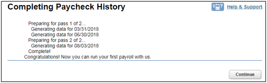 Completing paycheck history in Intuit Online Payroll