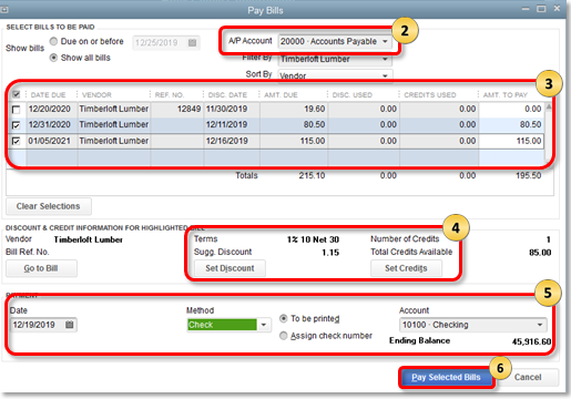 how to write off accounts payable in quickbooks