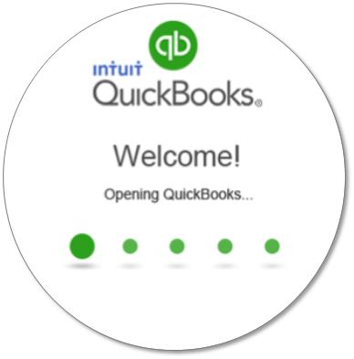 Opening QuickBooks splash screen displays and disa