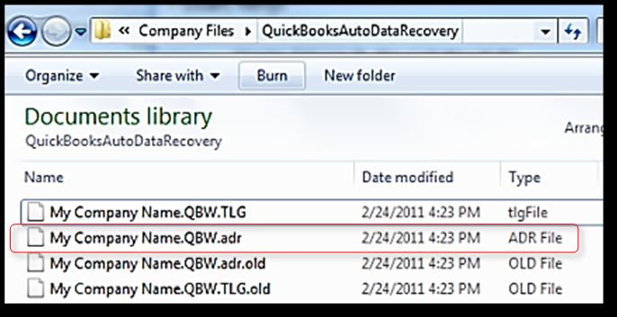 Recover lost data with QuickBooks Auto Data Recove    - QuickBooks