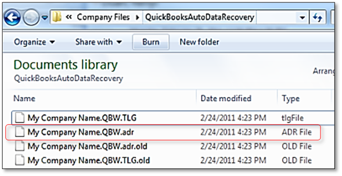 Recover lost data with QuickBooks Auto Data Recove