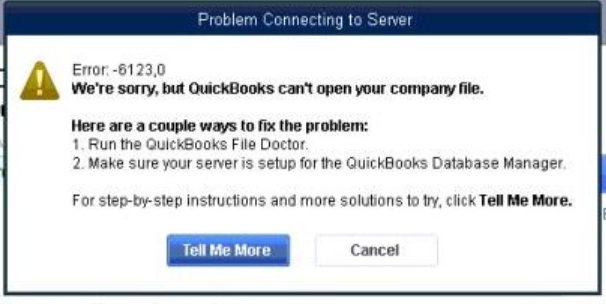 error 6123 0 when upgrading or opening company f quickbooks
