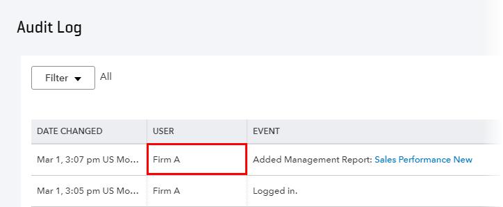 Audit Log QuickBooks Online