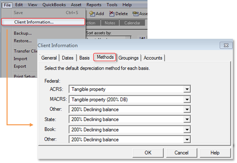 how to create a depreciation schedule in quickbooks