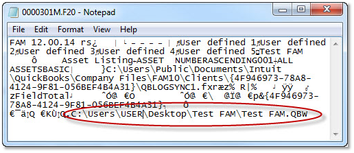 This is how the user can identify the client file they need to move.