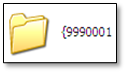 An example of how a backed up folder will look like.