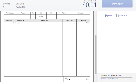 Create Invoices With Payment Link QuickBooks Learn Support - Quickbooks e invoicing