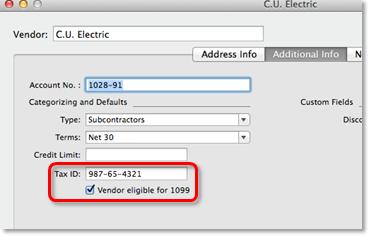 1099 setup mac 2