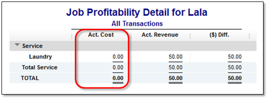 job profitability detail report in a company file