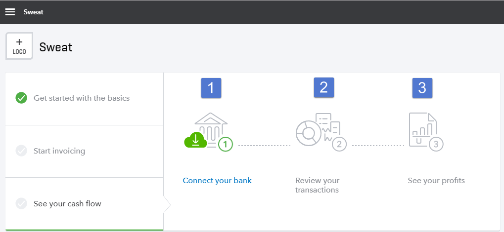 Tab on Dashboard named 'See your cash flow'