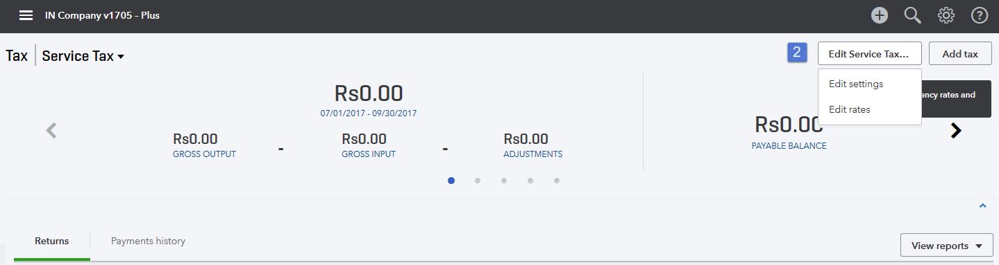 Screenshot of Edit Tax Agency option